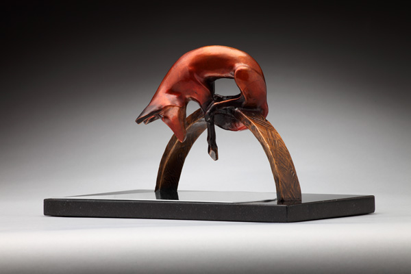 Laurel Peterson Gregory, Pause for Reflection, bronze, 48 x 71 x 30.