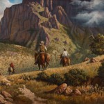 Martin Grelle, Trailride in Chisos Basin, oil, 30 x 40. Estimate: $10,000-$20,000.