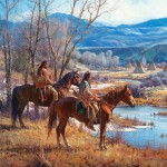 Martin Grelle, Apsaalooke Sentinels, oil, 42 x 48. Estimate: $150,000-$250,000.