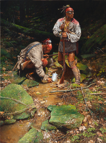 Robert Griffing, The Soldier's Canteen, oil, 40 x 30.