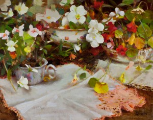 Nancy Guzik, Spring Openings, oil, 11 x 14.