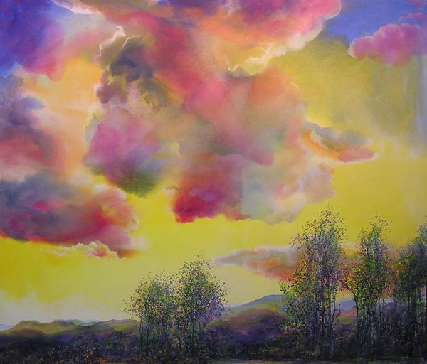 Angus Macpherson, Hondo, acrylic, 74 x 87.