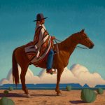 Logan Maxwell Hagege, Paradise, oil, 30 x 30.
