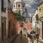 George Hallmark, El Lechero, oil, 48 x 36.