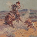 J.W. Hampton, A Sure Loop, oil, 14 x 11. Estimate: $6,000-$7,000.