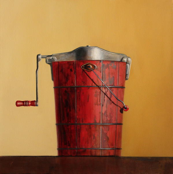 Wendy Chidester, Hand Crank No 4, oil, 32 x 32.