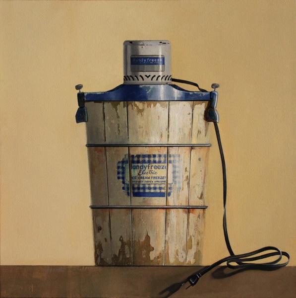 Wendy Chidester, HandyFreeze, oil, 32 x 32.