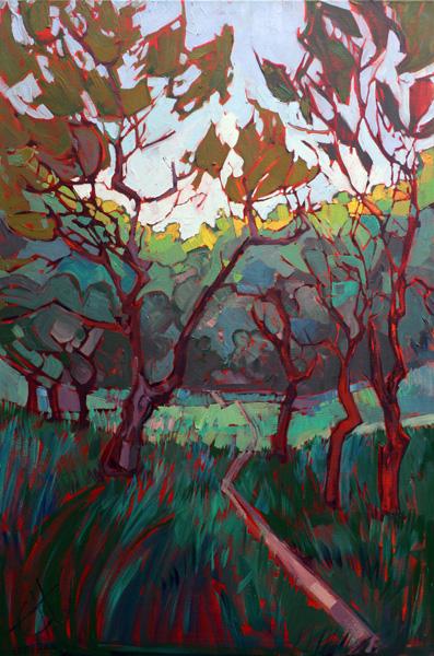 Erin Hanson, Filtered Light oil 36 x 24.