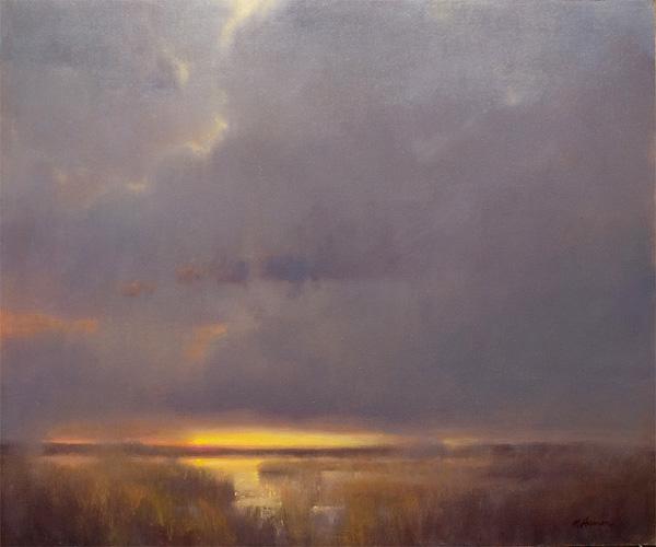 Marc Hanson, Dusk, oil, 20 x 24.