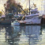 Jim Wodark, Harbor Sunrise, oil, 16 x 20.
