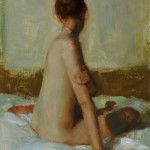 Johanna Harmon, Seated Nude, oil, 16 x 12.