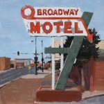 Stephanie Hartshorn, O Broadway, oil, 12 x 12.