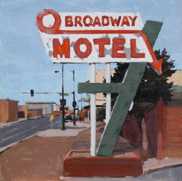 Stephanie Hartshorn, O Broadway, oil, 12 x 12.