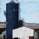 Stephanie Hartshorn, Rural Texture, oil, 30 x 24.
