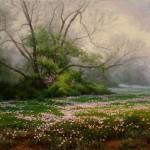 Mark Haworth, Primrose Path, oil, 24 x 30.