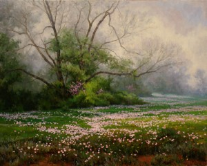 Mark Haworth, Primrose Path, oil, 24 x 30.