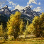 Mark Haworth, Tetons, oil, 20 x 24.