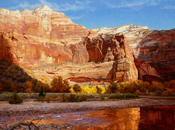 Mark Haworth, Wall of Zion, oil, 36 x 48.