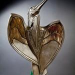 Hearts Unfolding, bronze, 39 x 16 x 12.