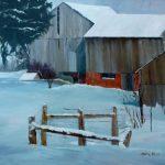 Carol Hein, Deep Slumber, oil, 30 x 30.