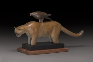 Hib Sabin, Cougar Fetish, bronze, 9 x 15 x 6.