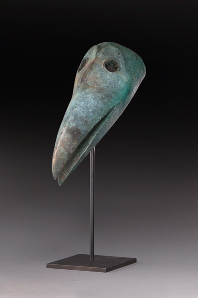 Hib Sabin, Raven Mask, bronze, 20 x 6 x 12.
