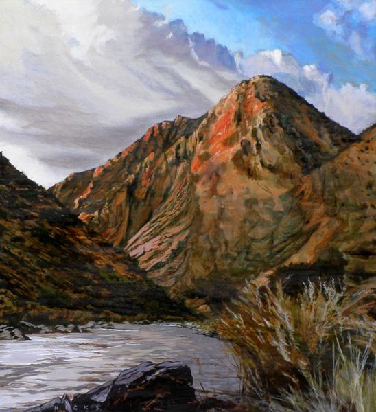 Kent Hicks, Nearing Pilar, oil, 29 x 26.