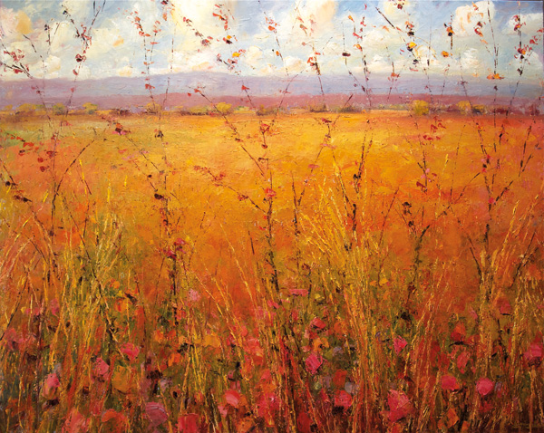 Matthew Higginbotham, High Desert Grasses, oil, 48 x 60.