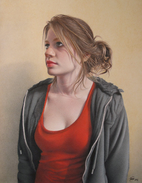Tanja Gant, Holly, colored pencil, 21 x 17.