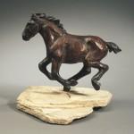 Robin Laws, Hoofin' It , bronze, 9 x 11 x 5.
