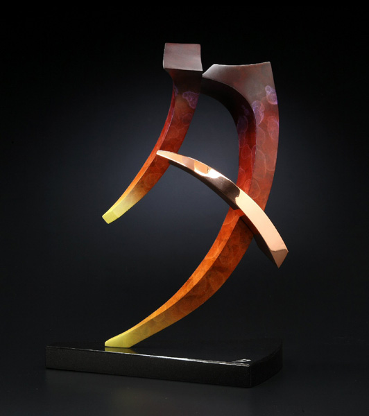 Casey Horn, Evening Sunset, bronze/copper, 18 x 14 x 8.
