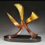 Casey Horn, Fire, bronze, 18 x 18 x 10.