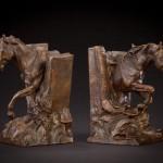Curt Mattson, Horse Stories, bronze, 10 x 7 x 6.