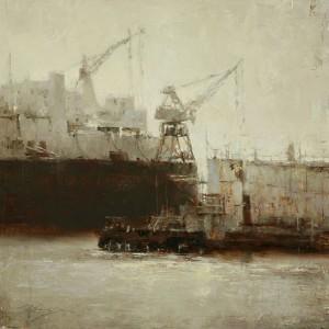 Hsin-Yao Tseng | The Cranes, oil, 14 x 14.