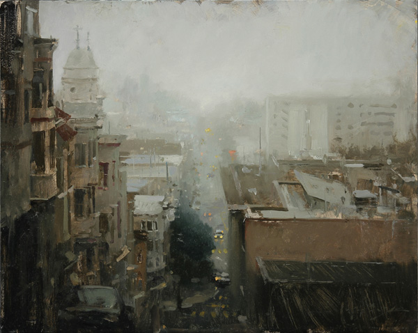 Hsin-Yao Tseng, Early Morning Fog, oil, 16 x 20