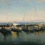 Hsin-Yao Tseng | Evening at Wharf, oil, 11 x 14.