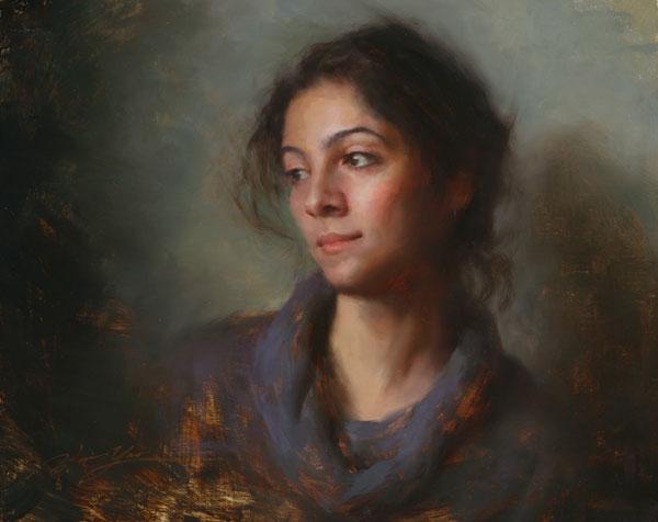 Hsin-Yao Tseng | Girl From Iran, oil, 16 x 20.