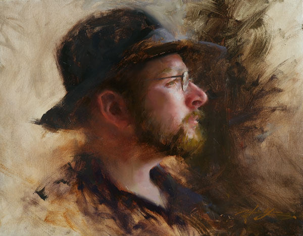 Hsin-Yao Tseng | Kevin With Hat, oil 14 x 18.