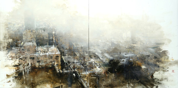 Hsin-Yao Tseng, Lui Bai, #1, oil, 24 x 48.
