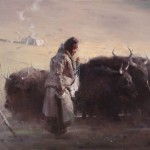 Yak Herd, oil.