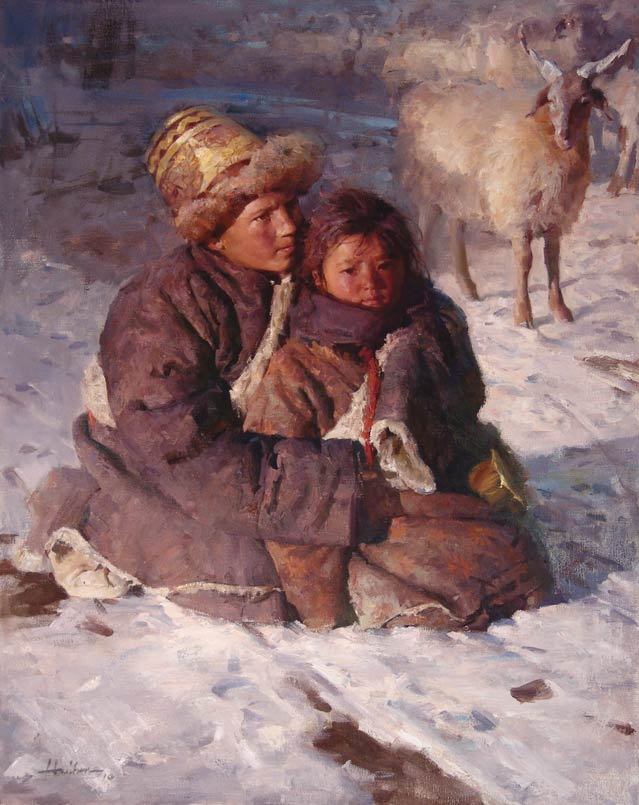 Winter Warm, oil.