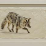 Pete Zaluzec | Hunter, gampi paper/archival ink, 26 x 17.