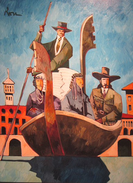 Thom Ross, In Venice, acrylic, 48 x 36.