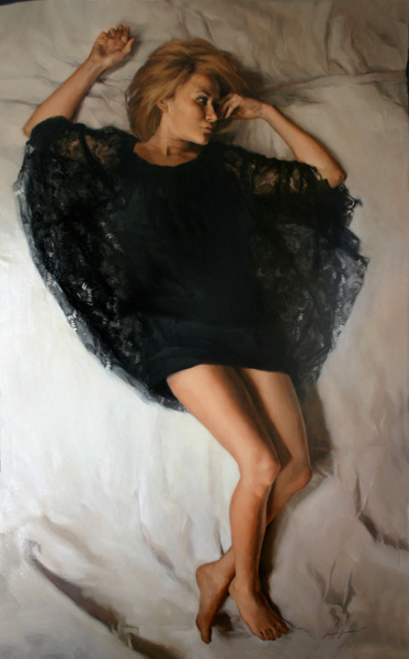 Jennifer Gennari, In the Moment, oil, 72 x 48.