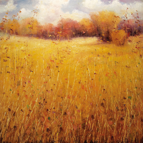 Matthew Higginbotham, Indian Summer Grasses, oil, 48 x 48.