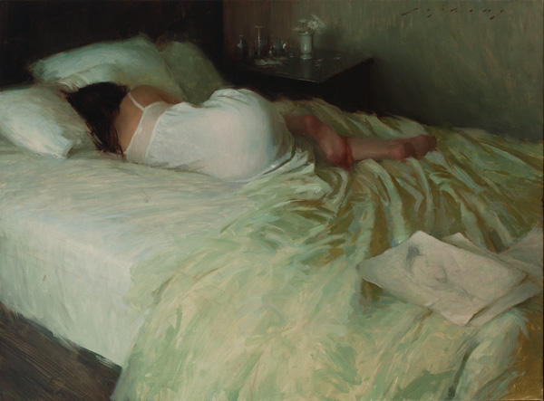 Jeremy Lipking, Interlude, oil, 22 x 30.