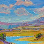 Michelle Chrisman, Iridescent Skies Over Abiquiu Lake, 24 x 36.