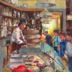Italian Deli, oil, 20 x 16.