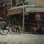 Jacob Dhein, Chinatown, oil, 24 x 30.