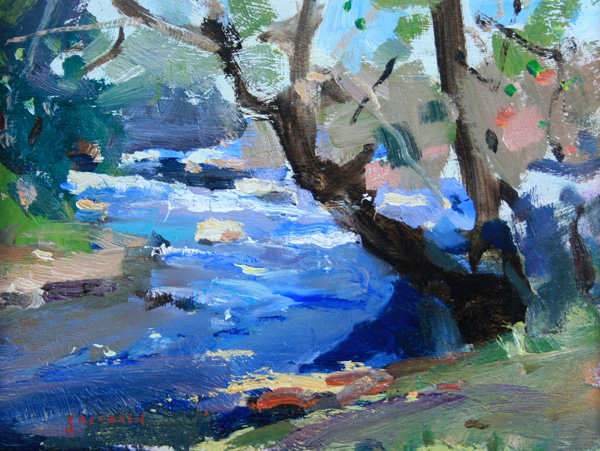Eric Jacobsen, Bear Creek, oil, 6 x 8.